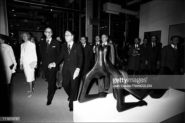 Opening of the Centre Georges Pompidou in Paris France on January 31st 1977