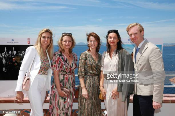 ANTIBES COTE D'AZUR MAY 16 Opening of the exhibition 70 years of cinema photographed by Paris Match at the CapEden Roc Hotel in Antibes on May 16...