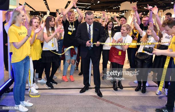 Opening of the Forever 21 shop on March 25, 2017 at Zlote Tarasy in Warsaw, Poland. The shop in Zlote Tarasy is the third shop in Poland from this...