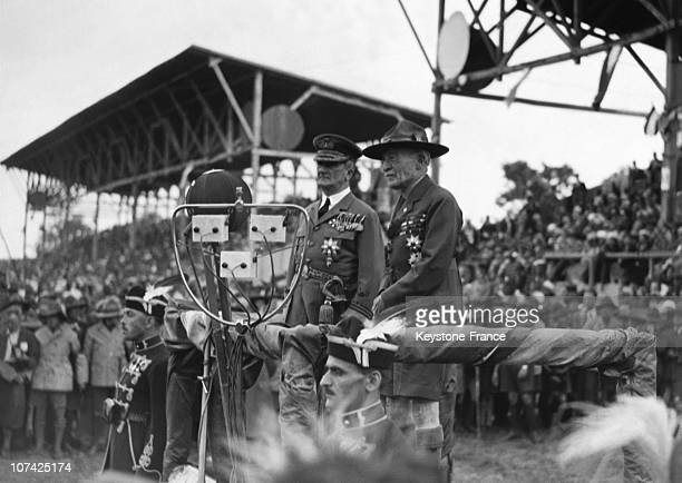 Opening Of The Great Jamboree By The Regent Miklos Horthy And Lord Baden Powell At Budapest In Hungary On August 4Th 1933