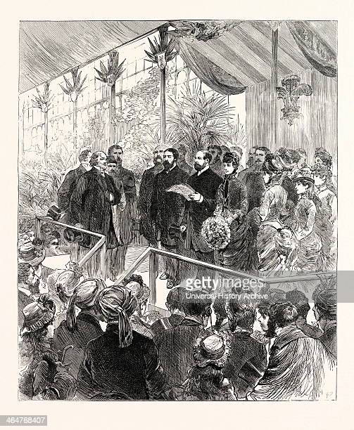 Opening Of The International Inventions Exhibition At South Kensington By The Prince Of Wales London UK 1885