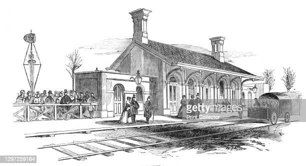 Opening of the Leamington and Warwick Railway - Kenilworth Station, 1844. 'The stations are remarkable for convenience of arrangement, and simplicity...