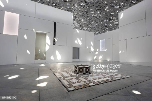 opening of the Louvre Abu Dhabi on the Saadiyat Island after 10 years of construction Designed by the architect Jean Nouvel its dome in aluminum and...