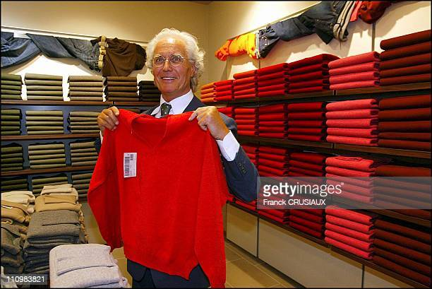 Opening of The Megastore Benetton with Luciano Benetton in Lille France on September 16 2003
