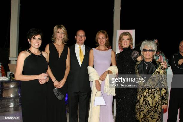 Opening of the Monte Carlo Bay Hotel with Prince Albert and Princess Stephanie of Monaco In Monte Carlo Monaco On October 07 2005 Alice Taglioni...