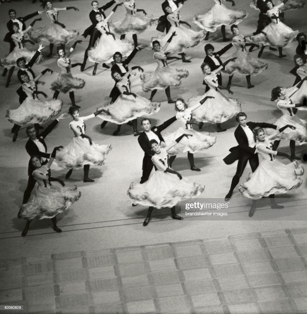 Opening of the Opera Ball, Vienna, Photography, Around 1970 (Photo by Imagno/Getty Images) [Die Er?ffnung des Wiener Opernballs in der Wiener Staatsoper, Photographie, Um 1970]