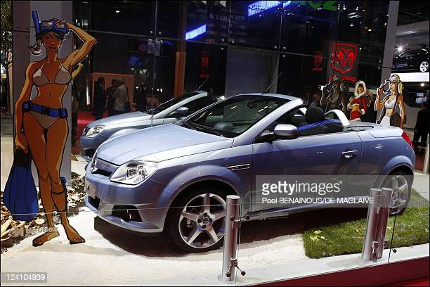 Opening of the Paris auto show In Paris France On September 28 2006 Opel Corsa convertible
