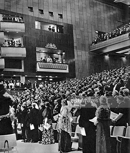 Opening of the Royal Festival Hall London Photograph from The Illustrated London News May 12 1951 Festival of Britain special issue King George VI...