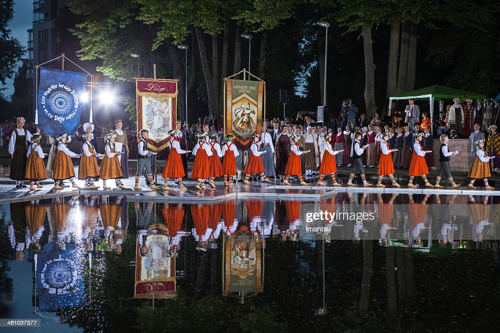Opening of the Song and Dance Celebration : Stock Photo
