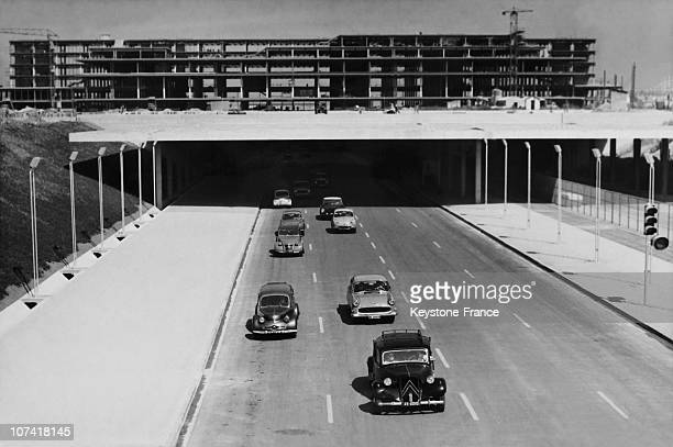 Opening Of The Trunk Road 7 Veering In Paris On September 1St 1959