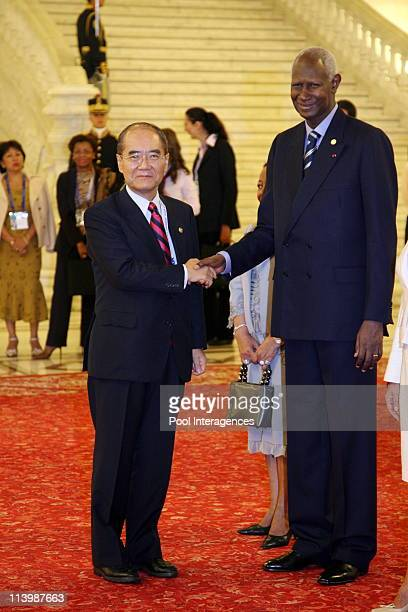 Opening of the XIth French Speaking Summit In Bucharest Romania On September 28 2006 Koichiro Matsura Director General Unesco and Abdou Diouf