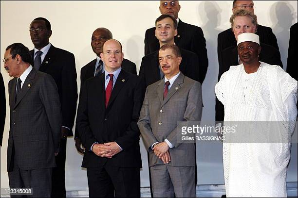 Opening Of The Xith French Speaking Summit On September 28Th 2006 Here Colonel Ely Ould Mohamed President Of Mauritania Sar Albert Ii Of Monaco James...