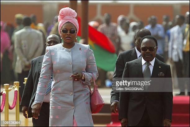Opening Of The Xth French Speaking Summit Arrival Of The Heads Of States On November 26 2004 In Ouagadougou Burkina Faso Omar Bongo President Gabon...