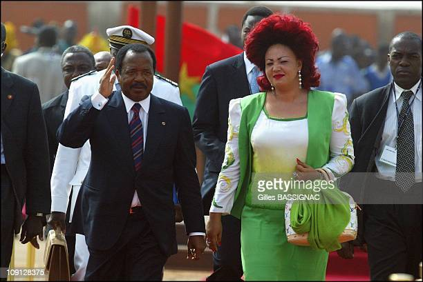 Opening Of The Xth French Speaking Summit, Arrival Of The Heads Of States . On November 26, 2004 In Ouagadougou, Burkina Faso. Paul Biya, President...