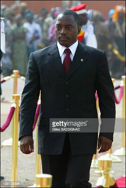 Opening Of The Xth French Speaking Summit Arrival Of The Heads Of States On November 26 2004 In Ouagadougou Burkina Faso President Joseph Kabila...