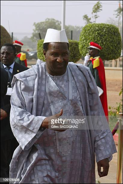 Opening Of The Xth French Speaking Summit Arrival Of The Heads Of States On November 26 2004 In Ouagadougou Burkina Faso Alpha Oumar Konare President...