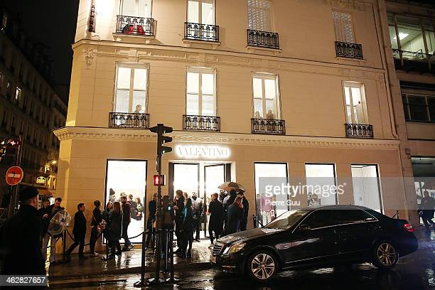 Opening of Valentino Boutique on January 15 2014 in Paris France