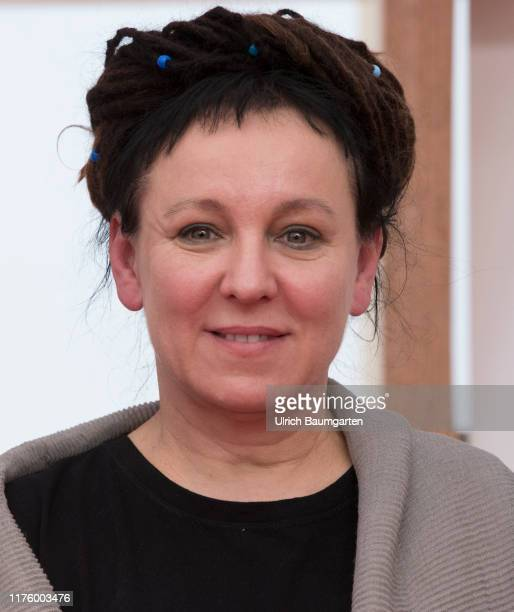 Opening Press Conference Frankfurt Book Fair 2019. Olga Tokarczuk, winner female of the Literature Nobel Prize 2018, during the press conference.