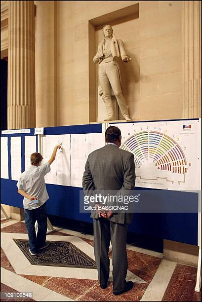 Opening Session Of The 12Th Legislature And Election Of The New President Of The French National Assembly On June 25Th 2002 In Paris France