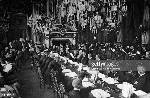 opening session of the Versailles Peace conference at the Trianon Palace january 1919