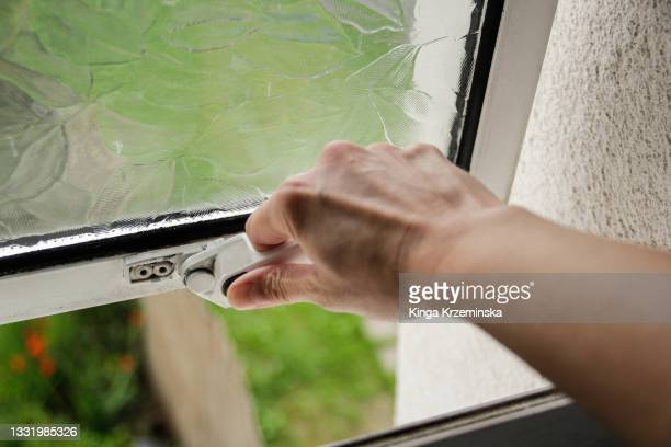 opening the window - window stock pictures, royalty-free photos & images