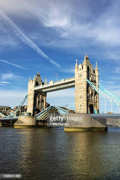 opening tower bridge in london, uk - tourism stock pictures, royalty-free photos & images