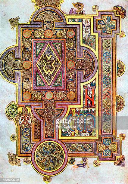 Opening words of St Luke's Gospel Quoniam from the Book of Kells, c800. The Book of Kells is a manuscript of the Four Gospels originally thought to...