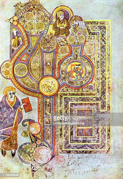 Opening words of St Matthew's Gospel Liber Generationes From The Book of Kells 6th century manuscript of the Four Gospels