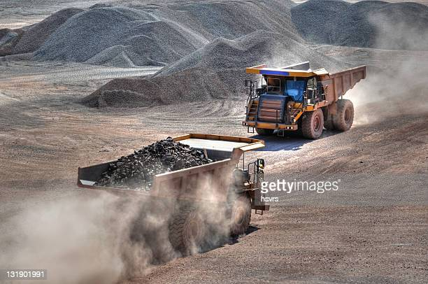HDR Open-pit Mine with two Dump Trucks