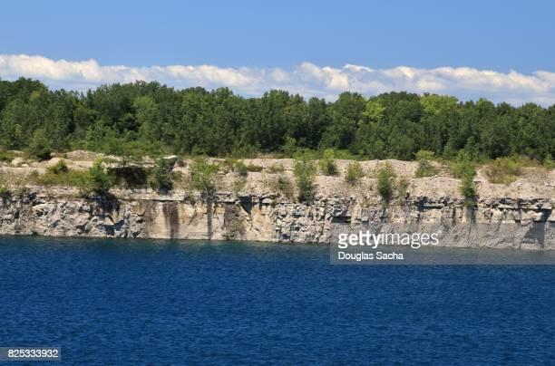 Open-pit rock quarry