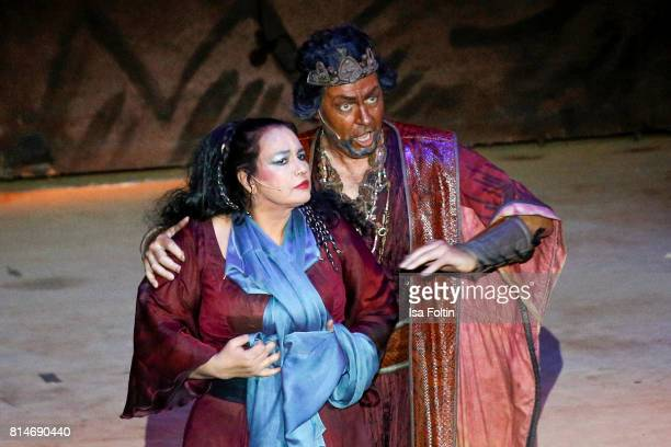 Opera act of the Thurn Taxis Castle Festival 2017 'Aida' Opera Premiere on July 14 2017 in Regensburg Germany