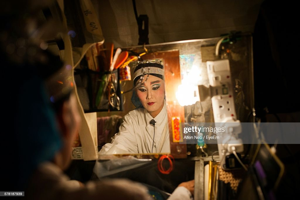 Opera Actress Preparing In Dressing Room : Stock Photo