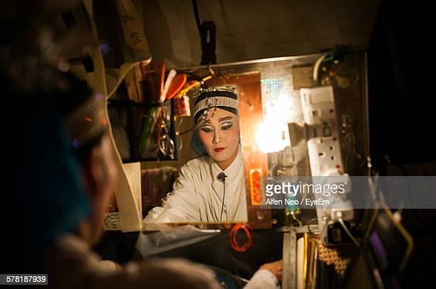 Opera Actress Preparing In Dressing Room