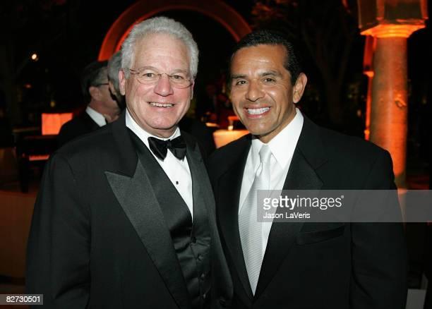 Opera CEO Marc Stern and LA mayor Antonio Villaraigosa attend the LA Opera season opening weekend at the Dorothy Chandler Pavilion on September 6...