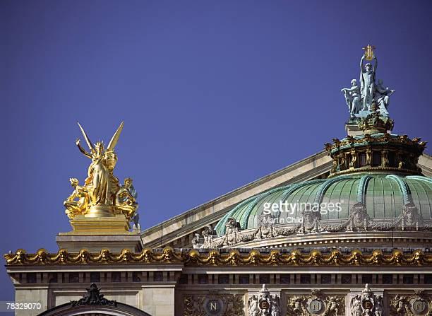opera de paris garnier in paris, france - opernhaus palais garnier stock-fotos und bilder