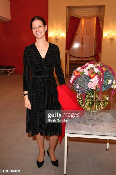 """Opera director Christiane Lutz, wife of Jonas Kaufmann, at the opera premiere of """"Die tote Stadt"""" by Erich Wolfgang Korngold at Bayerische Staatsoper..."""