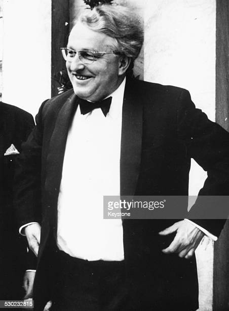Opera director Wolfgang Wagner wearing a tuxedo at the Wagner Festival in Bayreuth Germany July 27th 1968