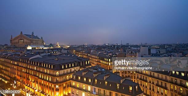 opera garnier in paris - paris night stock pictures, royalty-free photos & images