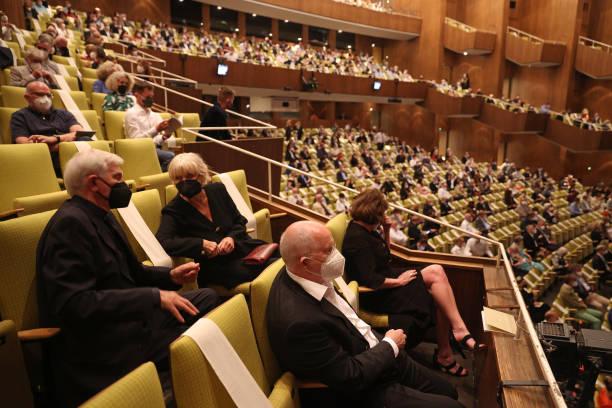 """DEU: Deutsche Oper Berlin Reopens With """"Rheingold"""" Premiere As Lockdown Eases"""