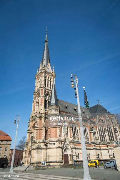 opera house and st peters church, chemnitz - chemnitz stock pictures, royalty-free photos & images
