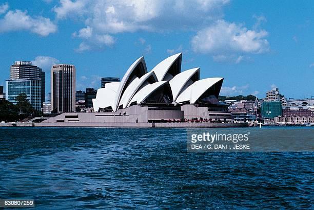 Opera House architect Jorn Utzon and Harbour Bridge 19231932 Sydney New South Wales Australia 20th century