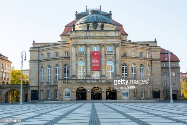 opera house in chemnitz - chemnitz stock pictures, royalty-free photos & images
