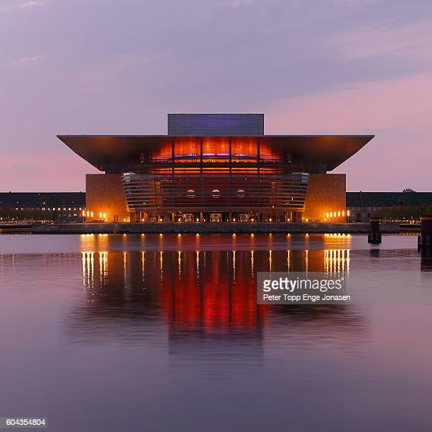 opera house in copenhagen morning light - opera stock pictures, royalty-free photos & images