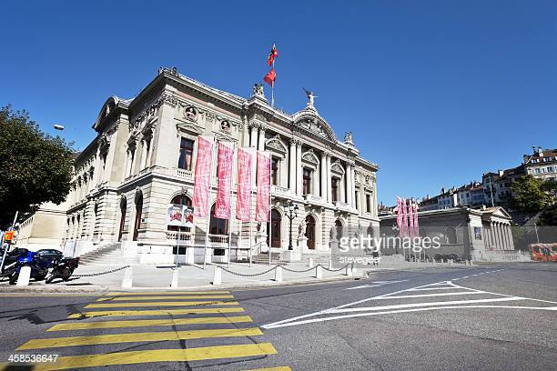 opera house in geneva, switzerland - grand theatre de geneve stock pictures, royalty-free photos & images