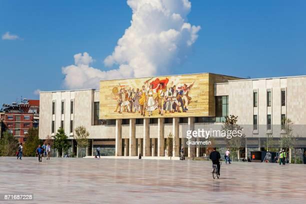 opera house - tirana stockfoto's en -beelden