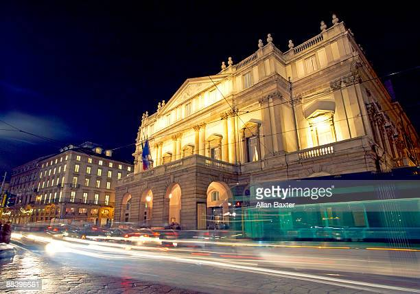 opera house - la scala theatre stock pictures, royalty-free photos & images