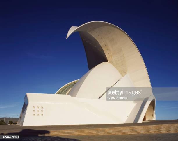 Opera House, Tenerife, Spain, Architect Santiago Calatrava, Opera House West Elevation
