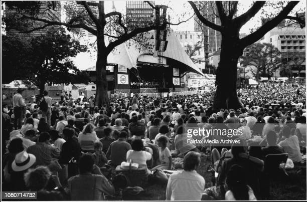 Opera in the park Gough and Margaret Whitlam in the crowd January 11 1992