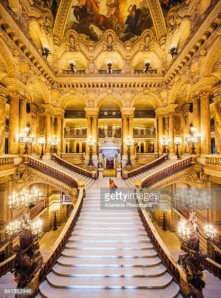 Opera (Opera House) National de Paris, or Palais (palace) Garnier, the monumental staircase