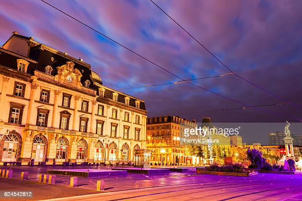 opera on place de jaude in clermont-ferrand - クレルモンフェラン ストックフォトと画像